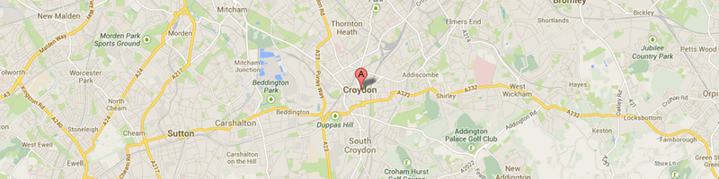 Croydon map image