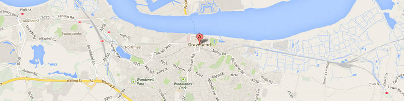 Gravesend map image