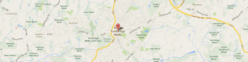 Tunbridge Wells Map Image